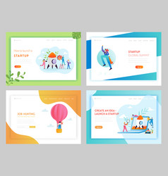business startup creative idea landing page vector image