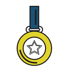 Champion medal with star vector