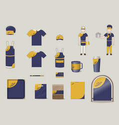 Corporate and brand identity elements set vector