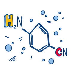 Cyanamide formula icon hand drawn style vector