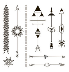 Decorative arrows geometric design elements vector