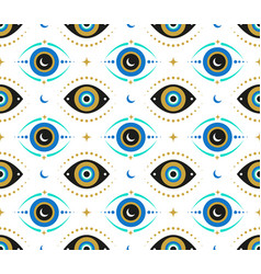 Evil eyes seamless pattern contemporary modern vector