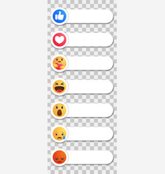 Facebook like round yellow cartoon button vector