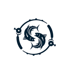 fishing abstract letter s logo icon vector image