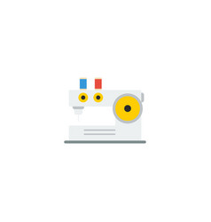 flat icon knitting machine element vector image