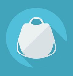 Flat modern design with shadow womans handbag vector