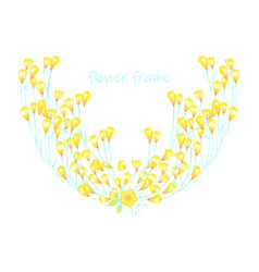 Floral elementscolorful collection vector