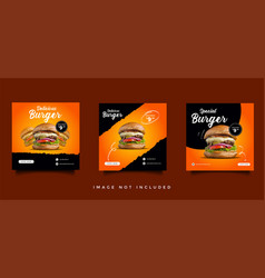Food and culinary social media promotion template vector