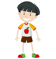 Front view of a little boy vector image