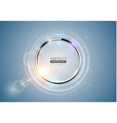 futuristic abstract metal ring blue background vector image