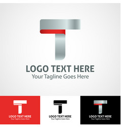 Hi-tech trendy initial icon logo t vector