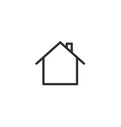 home icon in trendy flat style isolated on vector image