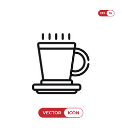 hot drink icon vector image