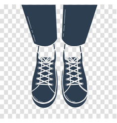 Icon of feet in sports shoes vector