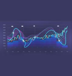 Infographic big data visualization vector