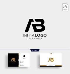 Initial ab abstract geometric logo template vector