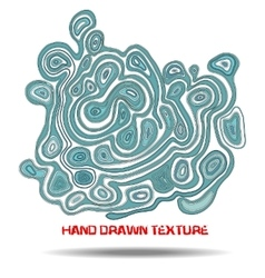 Ink hand drawn texture Psychedelic blue wave vector image