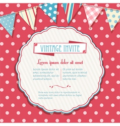 invite and bunting background circular vector image