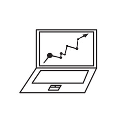 isolated laptop icon vector image