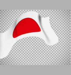 Japan flag on transparent background vector