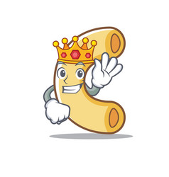 King macaroni mascot cartoon style vector