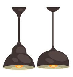 lamp set isolated interior light design vector image