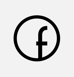 Letter f in a circle on a white background vector