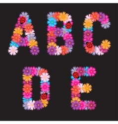 Letters of flowers vector image
