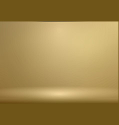 luxury gold studio room background with vector image