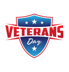 modern design veterans day concept background vector image