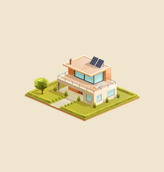 modern family house with small garden vector image