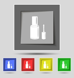 Nail polish bottle icon sign on original five vector