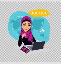online booking banner on transparent background vector image