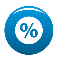 percent sign icon blue vector image