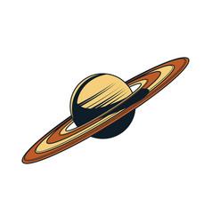 Saturn hand drawn vector