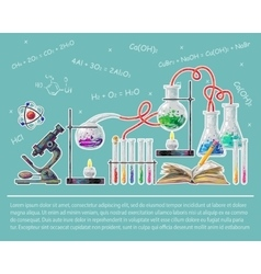 Science Colored Poster vector image