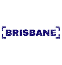 Scratched textured brisbane stamp seal inside vector