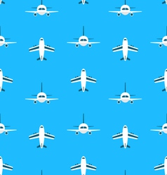 Seamless Pattern with Airplanes vector image