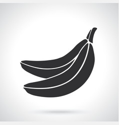 silhouette two bananas vector image