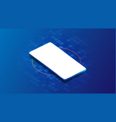 smartphone blank screen on technology futuristic vector image