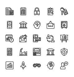 startup and new business line icons set vector image