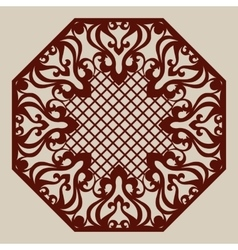 Template for laser cutting decorative pane vector