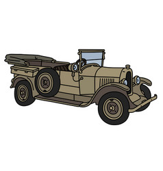 The vintage sand military open car vector