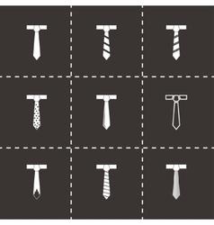 tie icon set vector image
