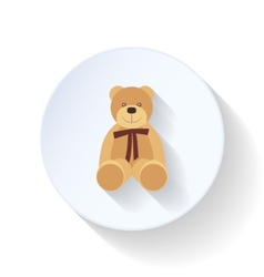 Toy bear flat icon vector image