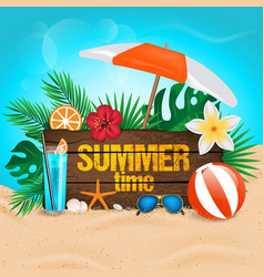 tropical summer background vector image
