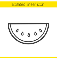 watermelon linear icon vector image