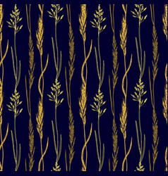 Wildflowers pattern background botanical print vector