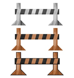 wooden barriers set vector image