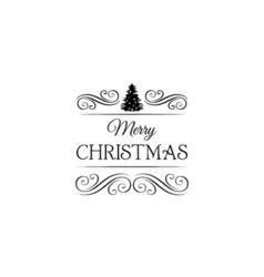 X-mas Tree Christmas and New Year Filigree Swirl vector image